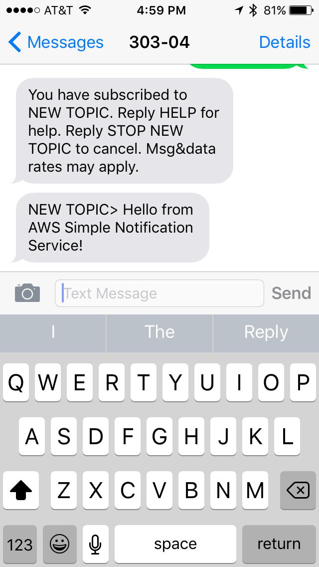 HOW-TO: SMS via Amazon Web Services - Walk-through
